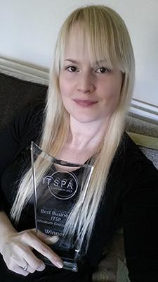 Janni Thornton with 2015 ITSPA award
