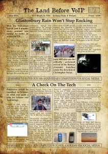 Land Before VoIP - June Newspaper Clipping For Blog
