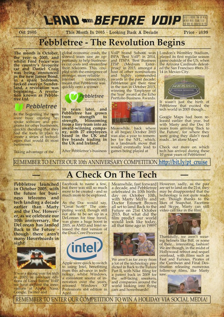 Land Before VoIP - October Newspaper