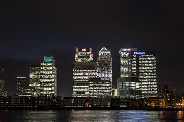Finance district London