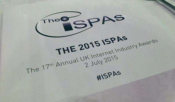 ISPA awards sign